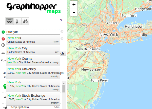 Mapzen Alternatives for Kurviger - GraphHopper Directions API