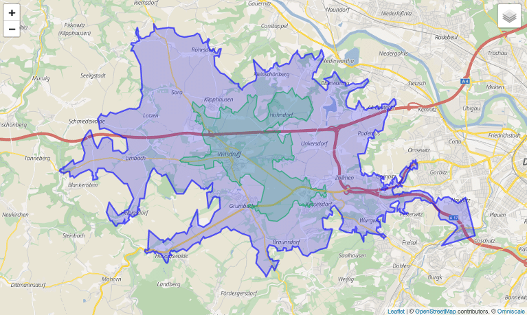 isochrone preview